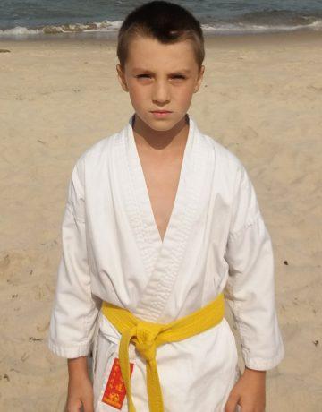Dominik Piotrowski – 8 Kyu (żółty pas)