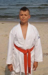 Kacper Ruszewski – 7 Kyu (pomarańczowy pas)